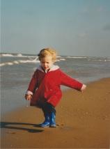 Anna op het strand